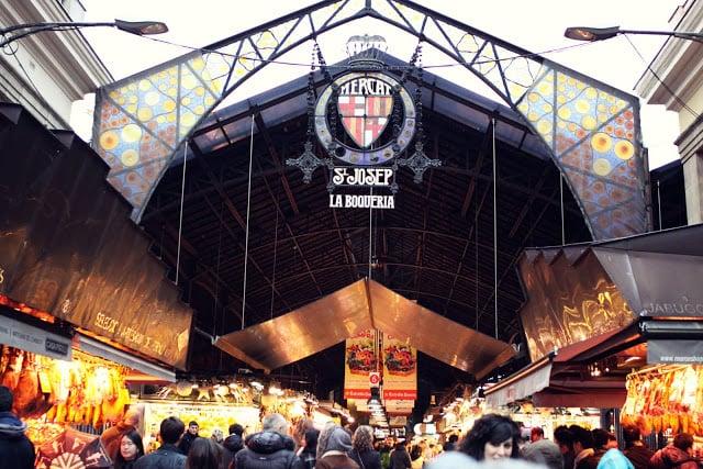 Mercat de la Boquería en Barcelona