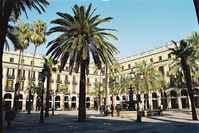 Plaza Reial en Barcelona
