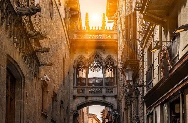 Barrio Gótico y La Ribera en Barcelona