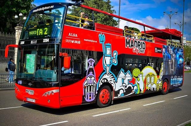 Recorrido en autobús turístico en Madrid