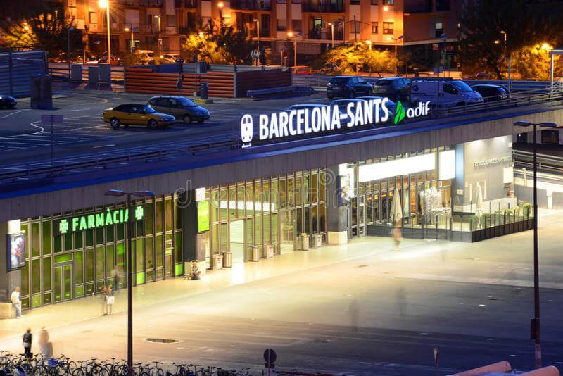 Estación de tren de Barcelona Sants