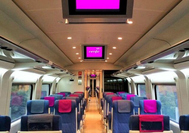 Viaje en tren de Santiago de Compostela a Madrid